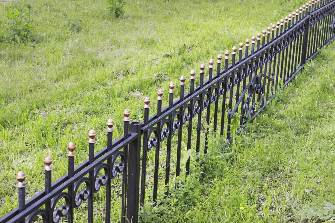 fence made of aluminum